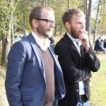 Tobias Nordström tillsammans med Johan Eriksson