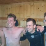 Fyra glada pojkar