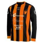 Nya matchtröjan i orange och svart