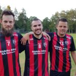 Tre glada målskyttar